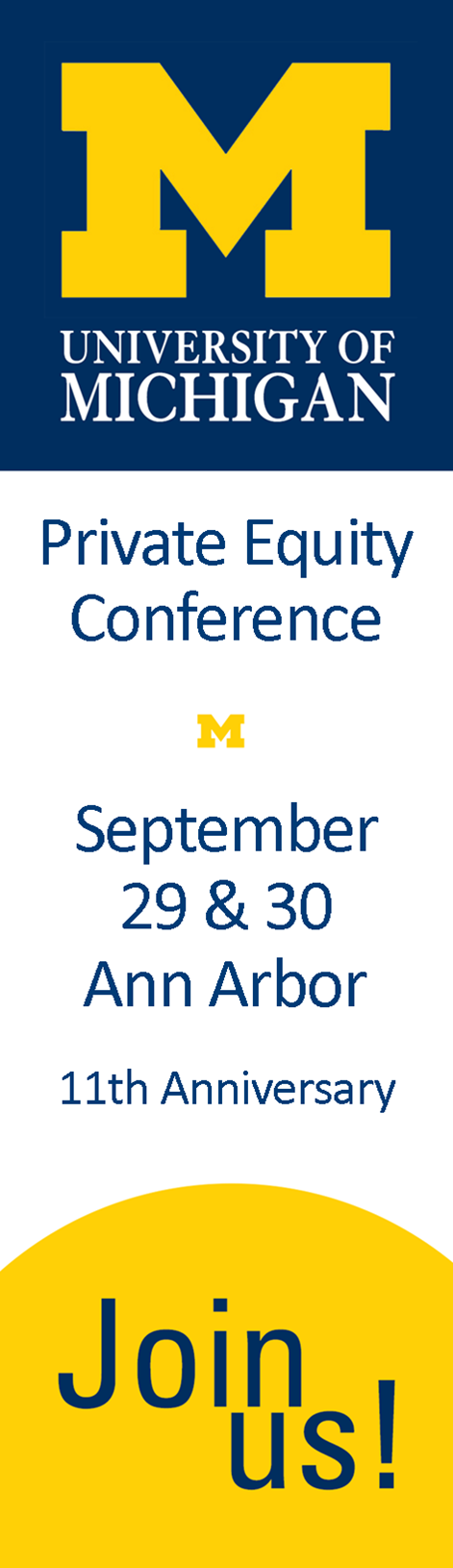 Private Equity Conference September 29 & 30 Ann Arbor